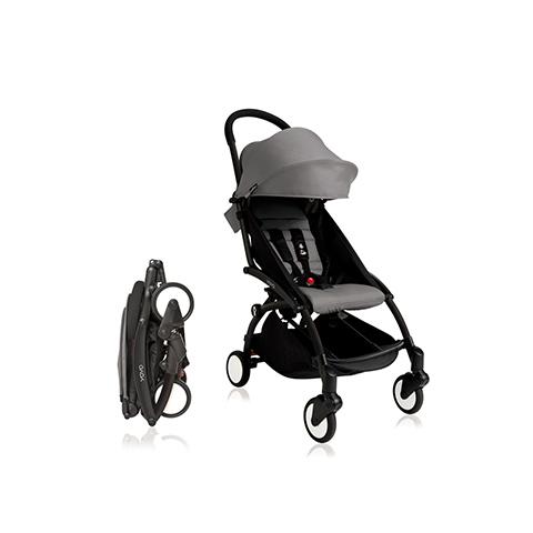 Passeggini - YoYo Plus 6+ mesi Grey - struttura nera by Babyzen