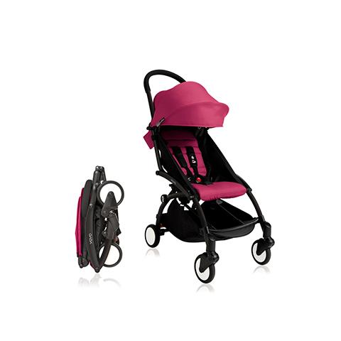 Passeggini - YoYo Plus 6+ mesi Pink - struttura nera by Babyzen
