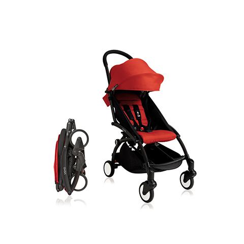 Passeggini - YoYo Plus 6+ mesi Red - struttura nera by Babyzen