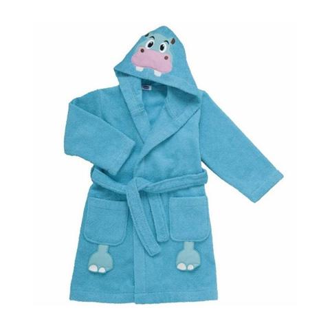 Abbigliamento e idee regalo - Accappatoio Ippopotamo in spugna - 24+ mesi Azzurro [4899] by Chicco