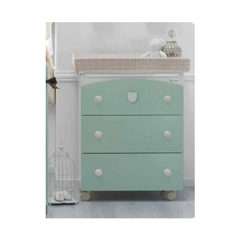 Cassettiere fasciatoio - Trendy Tè verde by Azzurra Design