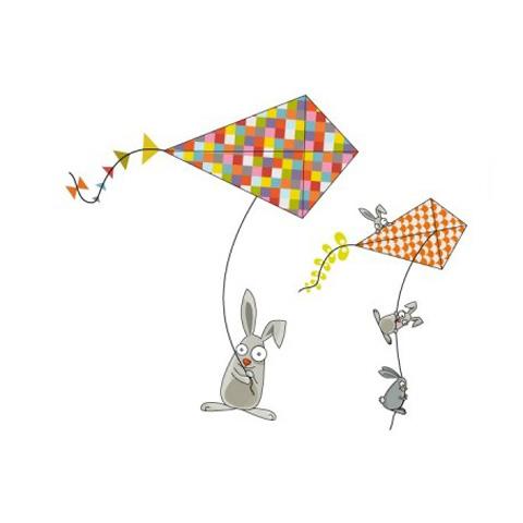 Complementi e decori - Coniglietti e aquiloni cm. 157 x 170 [GOLO97] by Acte Deco