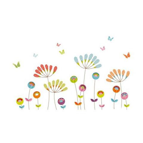 Complementi e decori - Fiori e farfalle cm. 140 x 69 [GOLO104] by Acte Deco