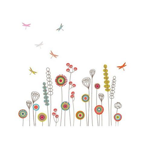 Complementi e decori - Fiori e libellule cm. 118 x 72 [GOLO103] by Acte Deco