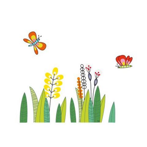 Complementi e decori - Un prato di farfalle cm. 58 x 35 [GOLOS9] by Acte Deco