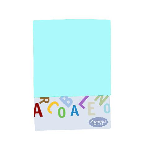 Materassi e linea bianca - Federa tinta unita per lettino - Arcobaleno 027 azzurro by Somma