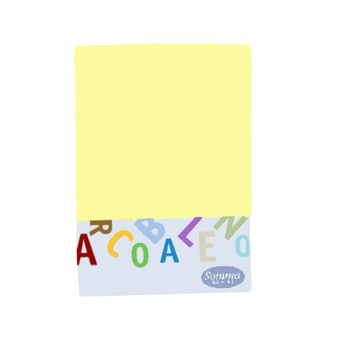Materassi e linea bianca - Federa tinta unita per lettino - Arcobaleno 312 polline by Somma