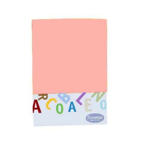 Coperte, lenzuolini e paracolpi - Lenzuolino sopra tinta unita per lettino - Arcobaleno petalo [311] by Somma