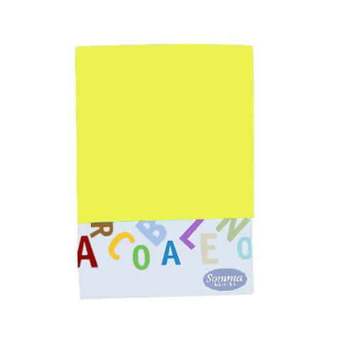 Coperte, lenzuolini e paracolpi - Lenzuolino sopra tinta unita per lettino - Arcobaleno polline [312] by Somma