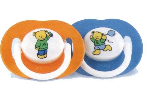 Biberon e succhiotti - Succhietti in silicone [confezione doppia] 3+ mesi, Teddy [5623 SCF125/11] by Avent
