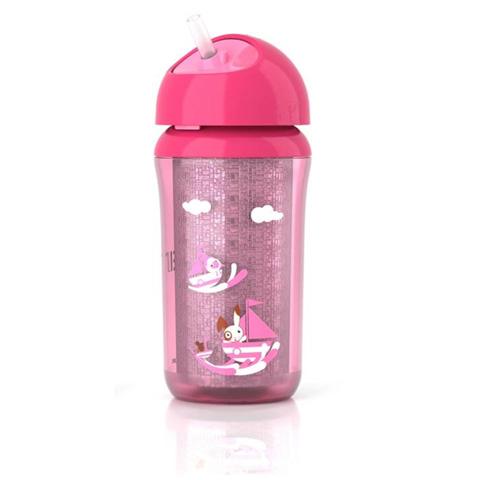 Allattamento e svezzamento - Tazza termica con cannuccia rosa - 260 ml. [SCF766/00] by Avent