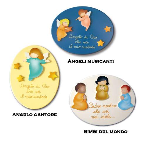 Annunci nascita - Preghiere Angeli musicanti [07725] by Azur
