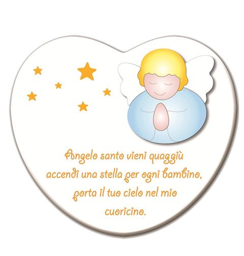 Annunci nascita - Preghiere - Cantico Cuore Angelo Santo - Cuore Bianco - 60000281 by Azur