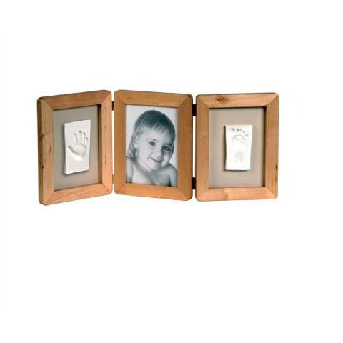 Abbigliamento e idee regalo - Kit Impronta Mano e Piede cornice naturale 34120020 - 34120071 by Baby Art