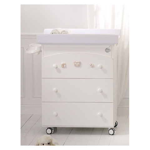 Cassettiere fasciatoio - Bagnetto Natura Bianco by Baby Expert