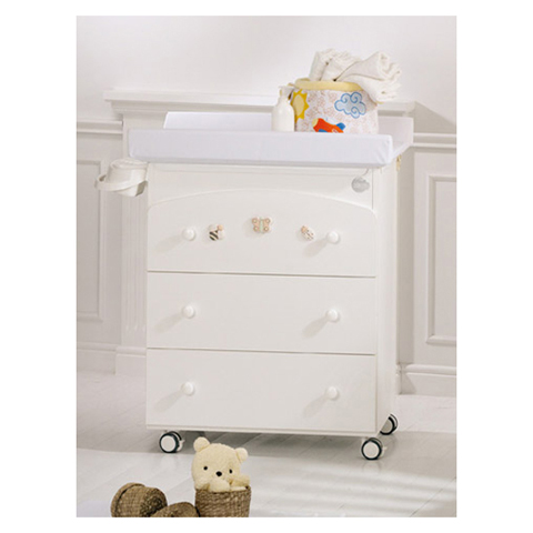Cassettiere fasciatoio - Bagnetto Natura Bianco-color by Baby Expert
