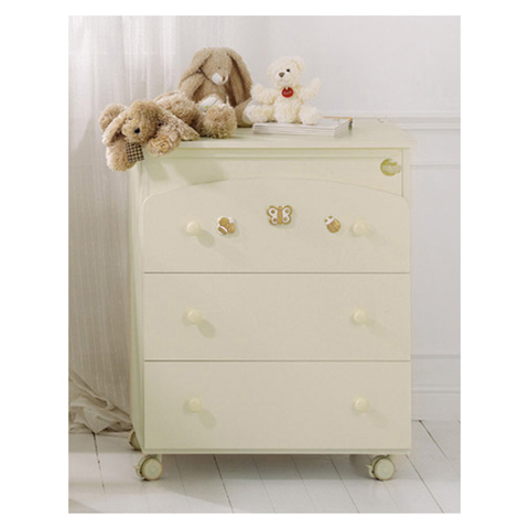 Cassettiere fasciatoio - Bagnetto Natura Panna-oro by Baby Expert