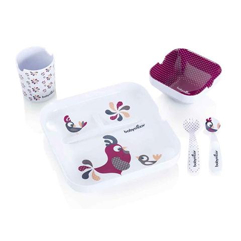 Abbigliamento e idee regalo - Set pappa Lovely Lunch Galletto rosa [BBMA005507] by BabyMoov