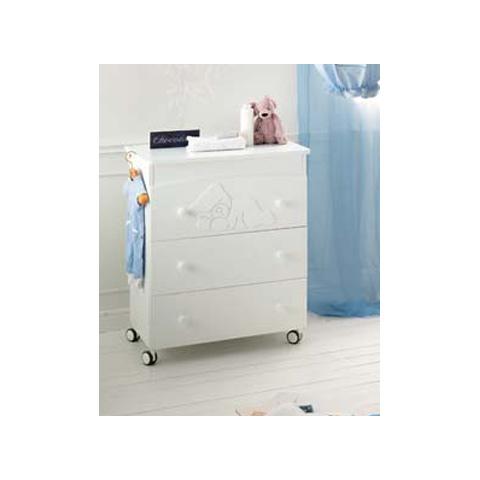 Cassettiere fasciatoio - Cassettiera fasciatoio Baby Coccolo Bianco by Baby Expert