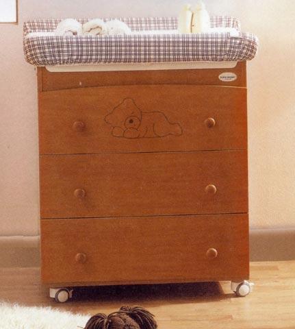 Cassettiere fasciatoio - Cassettiera fasciatoio Baby Coccolo Ciliegio by Baby Expert