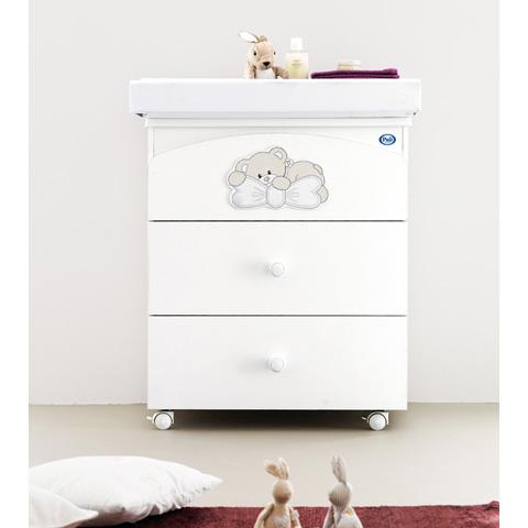 Cassettiere fasciatoio - Bagnetto Little baby Bianco by Pali
