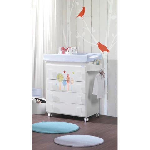 Cassettiere fasciatoio - Duende Bianco colori motivi grigio-bianco by Micuna