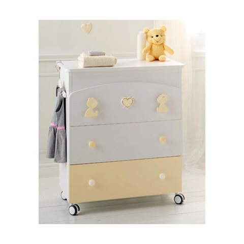 Cassettiere fasciatoio - Bagnetto Primo Amore Bianco/Panna by Baby Expert
