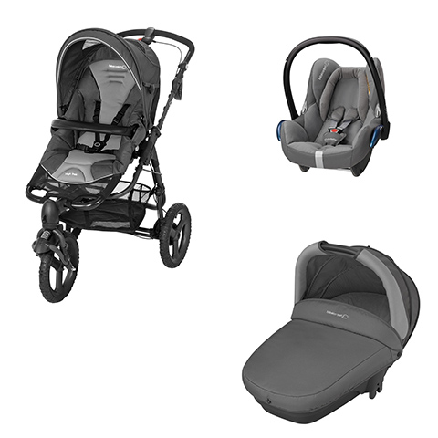 Modulari (DUO e TRIO) - [TRIO] High Trek Full + Navicella Compact + Cabrio Fix Concrete Grey by Bébé Confort