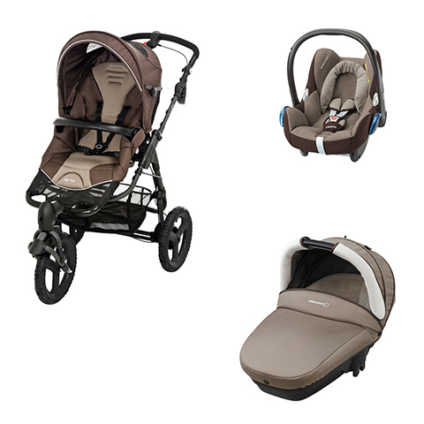 high trek full carrycot compact cabrio fix earth brown. Black Bedroom Furniture Sets. Home Design Ideas