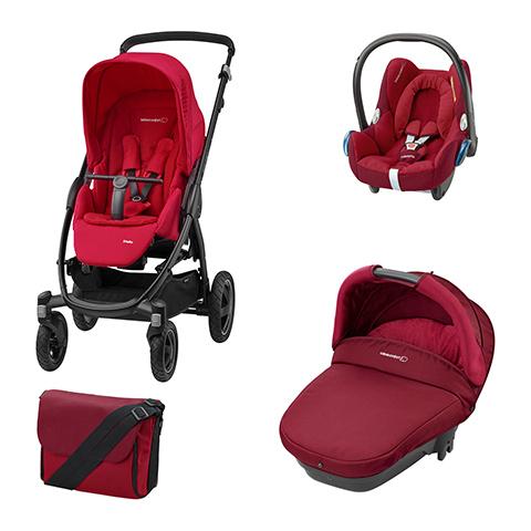 Bébé Confort [TRIO] Stella + Navicella Compact + CabrioFix + borsa
