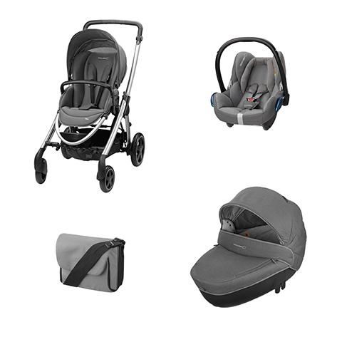 Modulari (DUO e TRIO) - [TRIO] Elea + Windoo + CabrioFix + borsa Concrete Grey by B�b� Confort