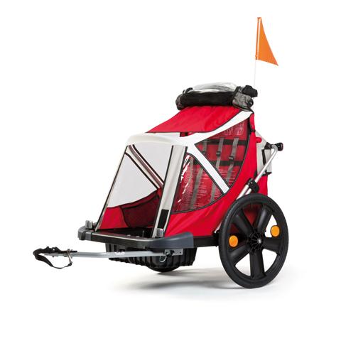 Accessori per il passeggino - B-Taxi  -  rimorchio da bicicletta White-red 2014 [01TRLTS0008] by Bellelli