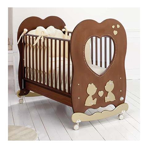 Lettini - Cuore di mamma - linea Swarovski Noce/Oro by Baby Expert