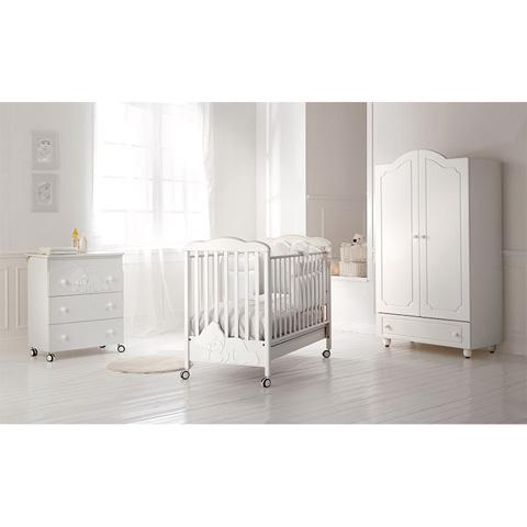 Camerette complete - Collezione Coccolo Lux - linea Swarovski Bianco by Baby Expert