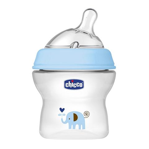 Biberon e succhiotti - Biberon Natural Feeling 150 ml. - 0+ mesi - fl.normale azzurro [807112] by Chicco