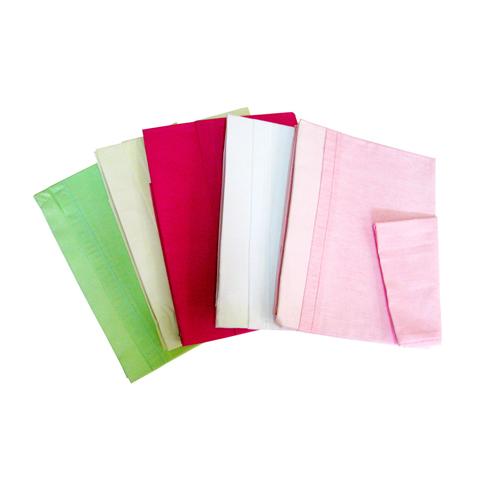 Materassi e linea bianca - Lenzuolino sopra e federa tinta unita per lettino rosa  by Billo e Pallina