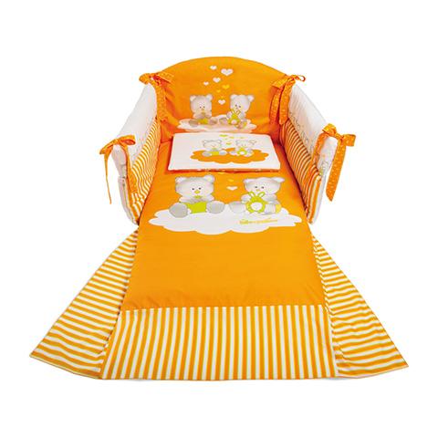 Coordinati tessili - Orsetti Arancio by Billo e Pallina