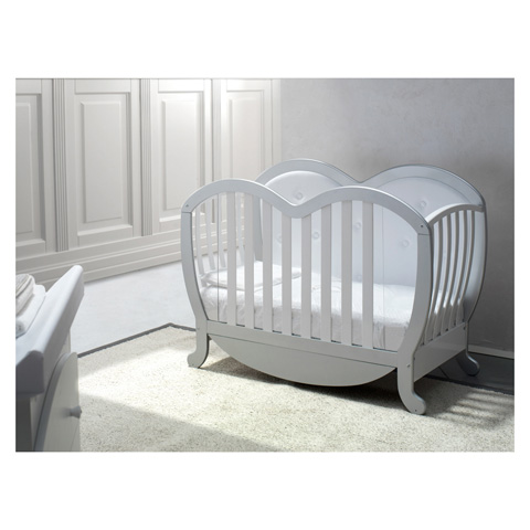 Lettini - Victor pelle Argento-Bianco lucido by Baby Italia