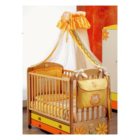 Accessori per la cameretta - Velo giroletto Maya Giallo/Arancio by Baby Italia