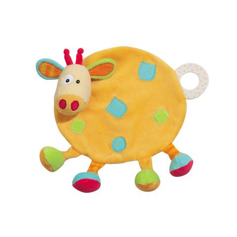 Giocattoli 6+ mesi - Fazzoletto con anello di dentizione - Giraffa color 166712 by Fehn