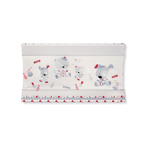 Accessori per l'igiene del bambino - Piano fasciatoio Piano fasciatoio morbido per Idea e Olimpia 539 Youpi rosso by Brevi