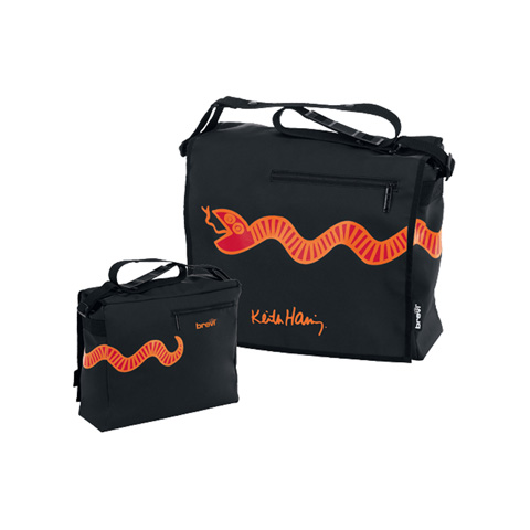 Accessori per carrozzine - Borsa fasciatoio - Keith Haring 026 Black by Brevi