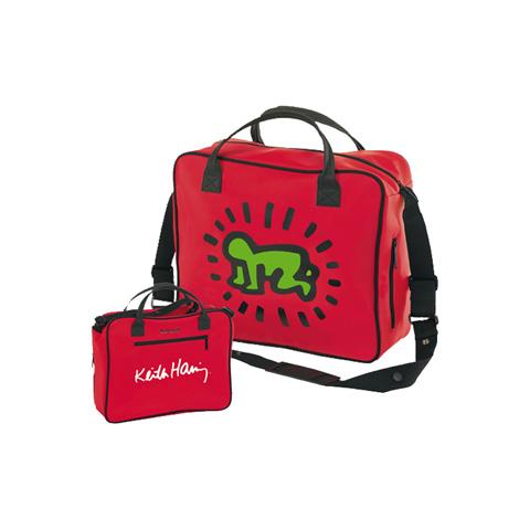 Accessori per carrozzine - Borsa fasciatoio - Keith Haring 028 Red by Brevi