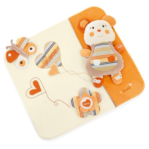 Accessori vari - Tappeto giochi sfoderabile per box Love Natural 528 Panna-arancio by Brevi