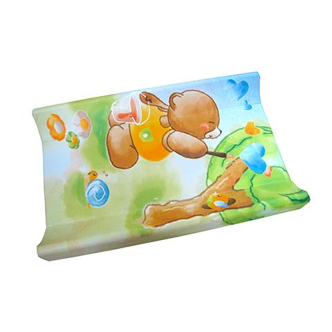 Accessori per l'igiene del bambino - piano fasciatoio morbido con supporto rigido Baby Block  221 Orso Pittore by Cam