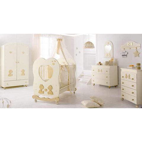 Camerette complete - Collezione Cuore di Mamma - linea Swarovski Panna/Oro by Baby Expert