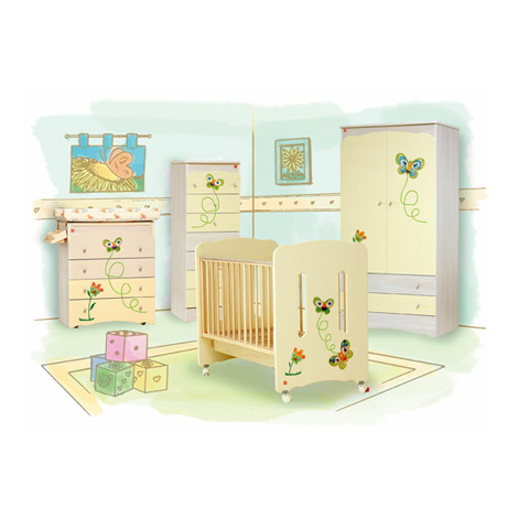 Camerette complete - Family Crema [mobili sbiancati] by NCR arredo baby