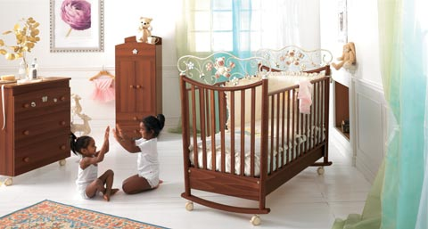 Camerette complete - Cameretta Perla Noce antico by Baby Expert