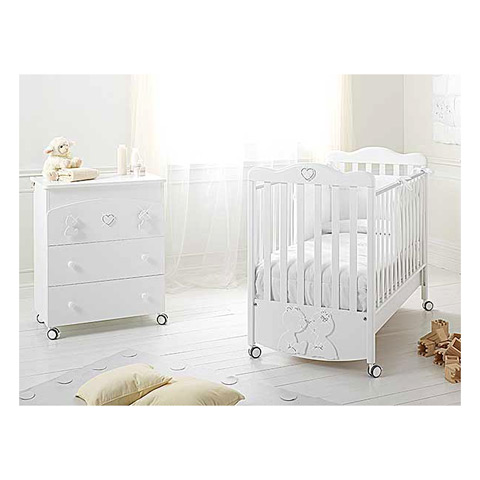 Offerte in corso - Set lettino Primo Amore + cass.fasc. Primo Amore bianco by Baby Expert