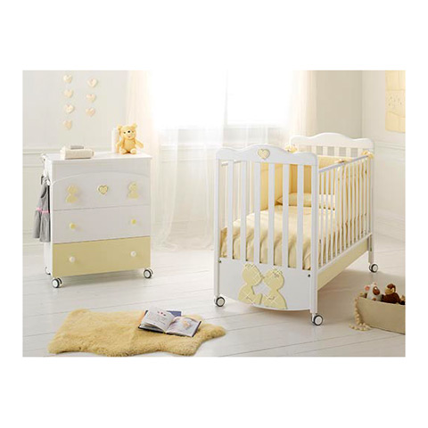 Offerte in corso - Set lettino Primo Amore + cass.fasc. Primo Amore bianco/panna by Baby Expert